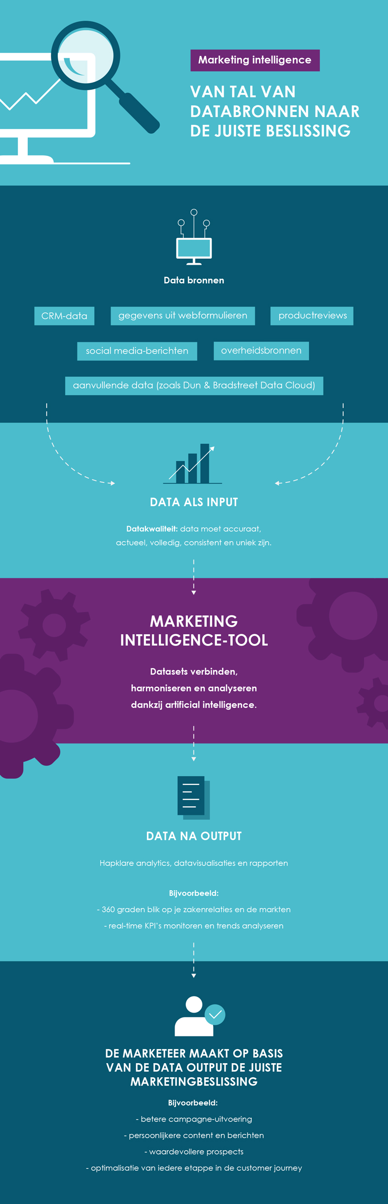 Infographic: Marketing Intelligence - from numerous data sources to the right decision